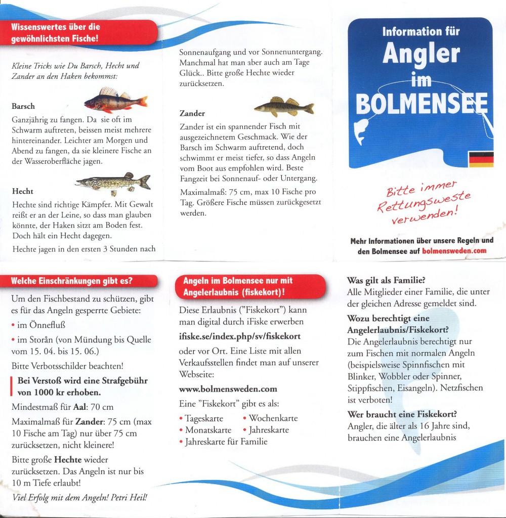 Anglerinformation Bolmen 2015