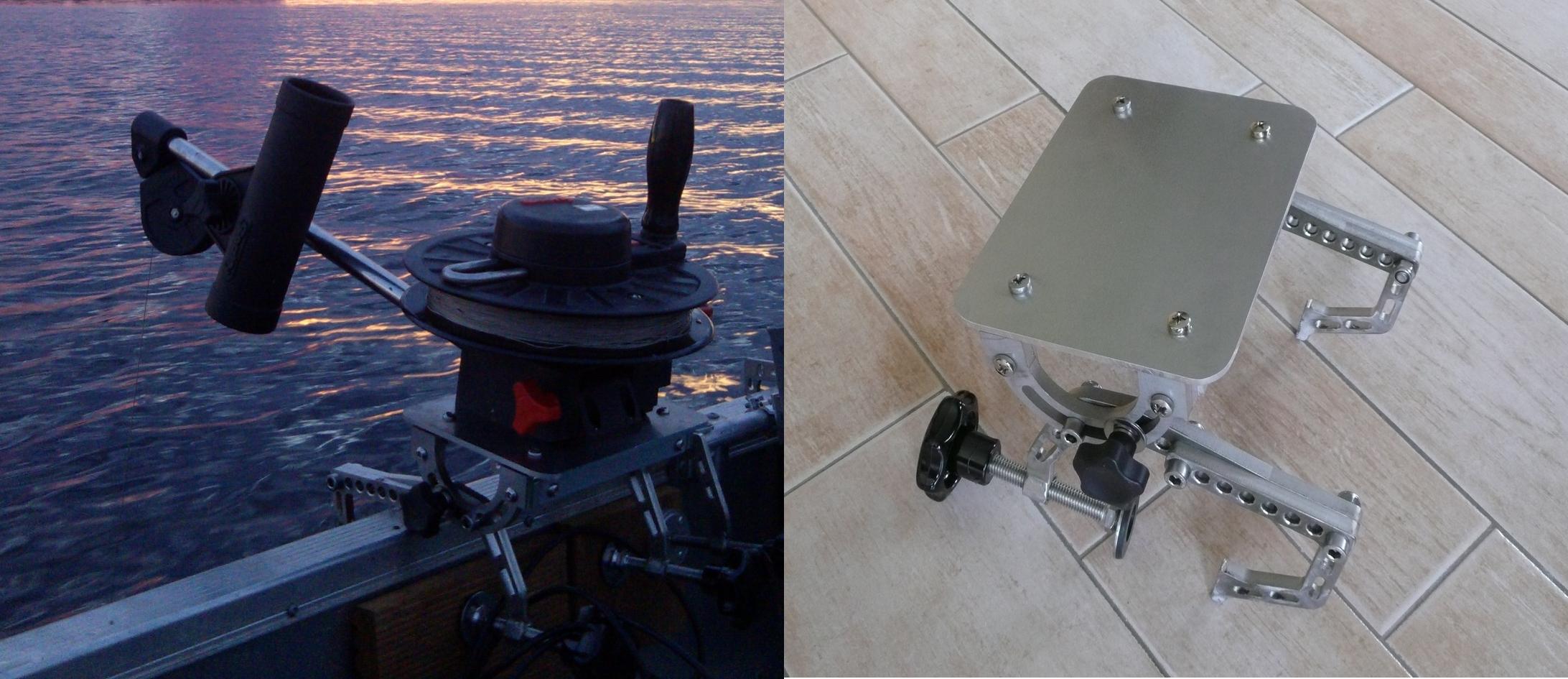 Downrigger-Halterung, Bootshalterung für Downrigger, Clamp, Bootsklammer Klammer für Downrigger Scotty Depthking (Mod.1080/1085)