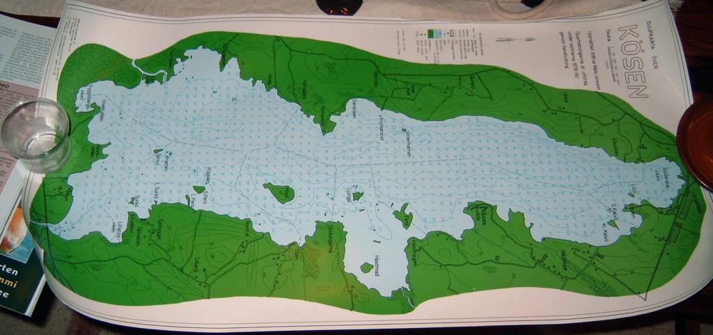 KÖSEN-TROLLING 2003 Gewässerkarte Tiefenkarte