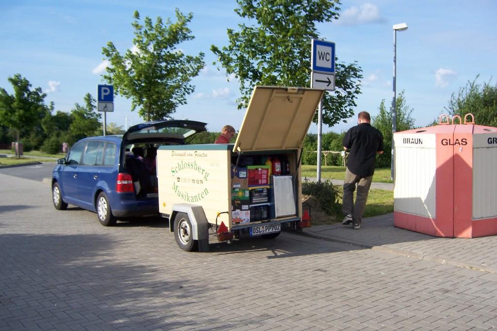 BOLMEN-TROLLING 2006 Start zur Fähre Rostock Trelleborg Bolmsö Pinkelpause