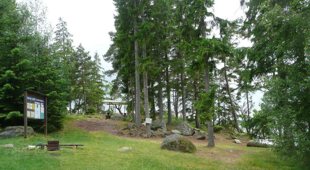 Åsnen Kanu Paddeltour Wasserwandern Rastplatz