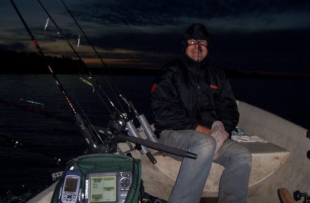 ÅSNEN-TROLLING 2011, Trollingboot Ausrüstung, Downrigger, Minn Kota, Nachttrolling