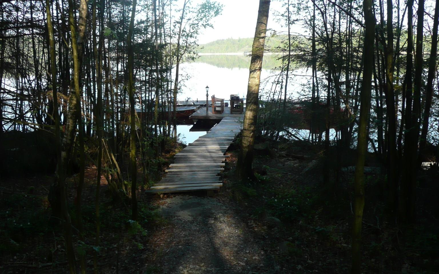 Angeltour Trolling Öresjön Schweden Ferienhaus Bootssteg Trollingboote
