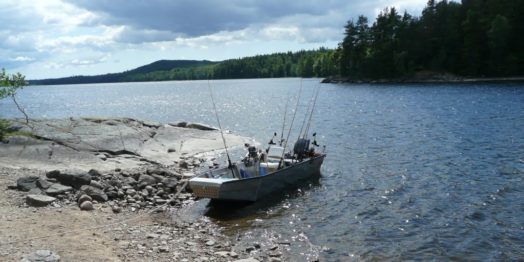 ÖRESJÖN-TROLLING 2009 Trollingboot Lorsby 480b Downrigger Sideplaner