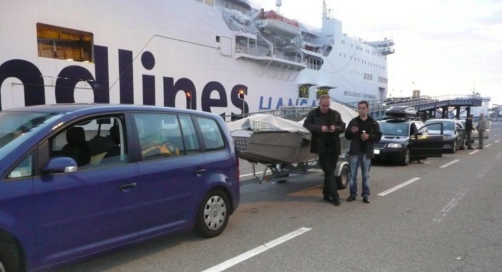 ÅSNEN-TROLLING 2012, Lorsby 480B, Rostock Fähr-Terminal Schweden