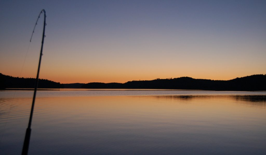 ÖRESJÖN-TROLLING 2014/2015 Sonnenuntergang Sunset