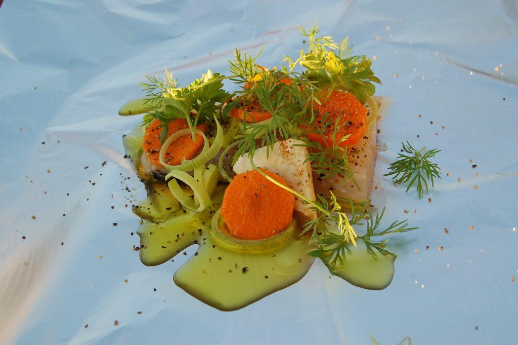 ÖRESJÖN-TROLLING 2014/2015 Diner am Steg, Hecht in Safransosse