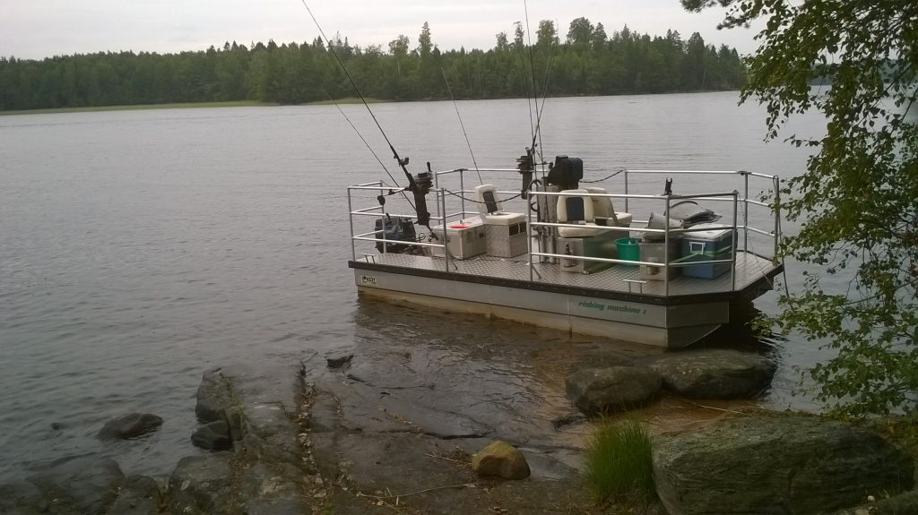 ÖRESJÖN-TROLLING 2014/2015 Downrigger Lorsby Katamaran fishing machine