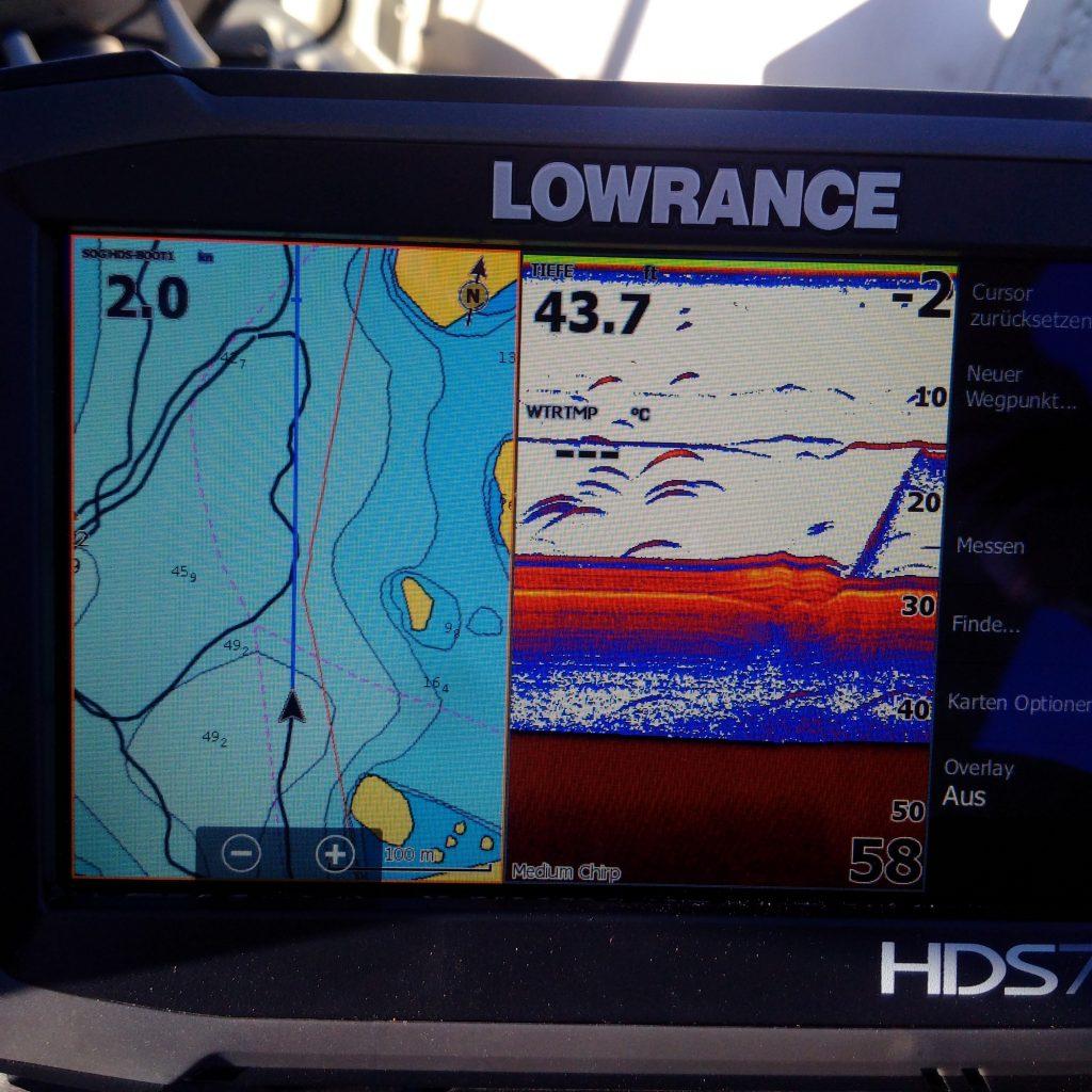 NÖMMEN Echolot GPS Fischsicheln Sichel