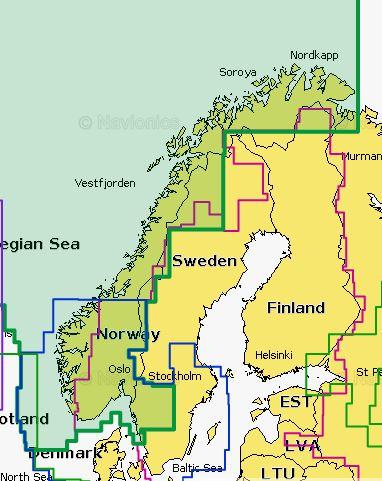 Navionics+ 49XG Norway Norwegen
