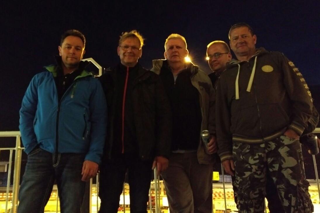 Nömmen-Trolling 2017, Das Team auf der Fähre in Rostock