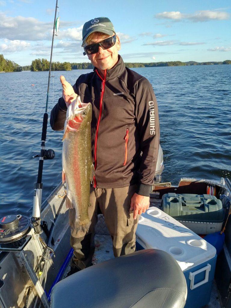 Nömmen-Trolling 2017 Lachsforelle Lachs schleppen