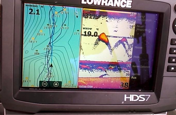 Nömmen-Trolling 2017 Echolot GPS Lowrance HDS7 Gen3