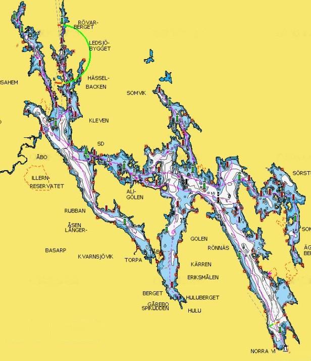 Sommen Gewässerkarte Seekarte Tiefenkarte