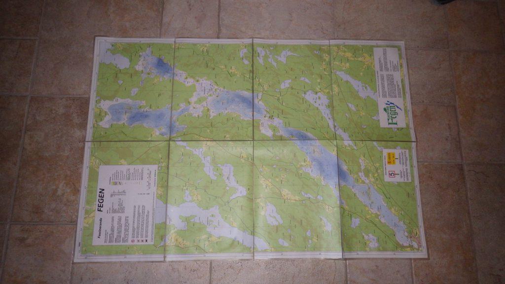 Gewässerkarte / Tiefenkarte des Fegen