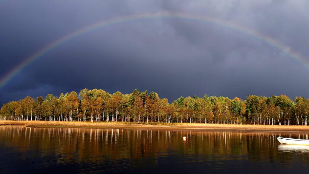 Fegen Wetter Regenbogen